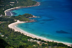 Aerial Seychelles Stock Image