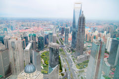 Aerial Shanghai Stock Photography