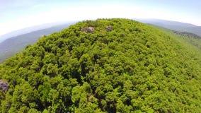 Aerial shenandoah valley blue ridge mountains stock footage
