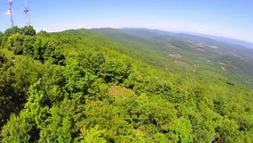 Aerial shenandoah valley blue ridge mountains stock video footage