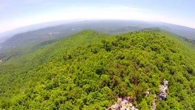 Aerial shenandoah valley blue ridge mountains stock video