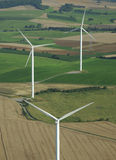 Aerial shoot of 3 wind turbines Stock Photography