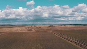 Aerial Shoot Agricultural Fields stock video