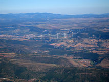 Aerial shoot of the Bridge of Millau Royalty Free Stock Images