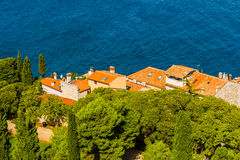 Aerial shoot of Old town Rovinj, Istria, Croatia Stock Photography