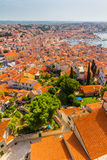 Aerial shoot of Old town Rovinj, Istria, Croatia Stock Images