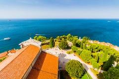 Aerial shoot of Old town Rovinj, Istria, Croatia Stock Photo