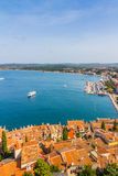 Aerial shoot of Old town Rovinj, Istria, Croatia Royalty Free Stock Photo