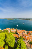 Aerial shoot of Old town Rovinj, Istria, Croatia Royalty Free Stock Photography