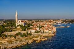 Aerial shoot of Rovinj, Croatia Royalty Free Stock Photos