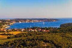 Aerial shoot of Rovinj, Croatia Stock Photos