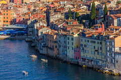 Aerial shoot of Rovinj, Croatia Stock Image