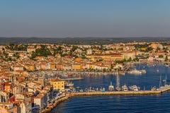 Aerial shoot of Rovinj, Croatia Royalty Free Stock Image