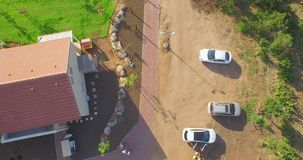 Aerial shooting stock footage