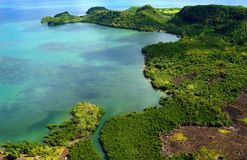 Aerial shot. Of Pagbilao, Quezon Province, Philippines Stock Photography