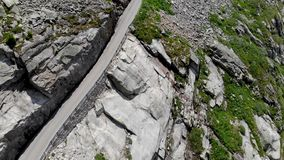 Alps mountain road empty scenary 3 stock video
