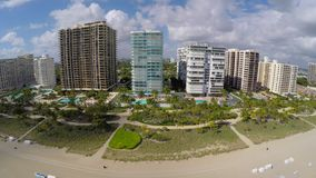 Aerial shot of Bal Harbour stock video