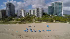 Aerial shot of Bal Harbour stock video footage