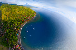 Aerial shot of Bali island Stock Photos
