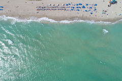 Aerial shot of the beach Stock Photography