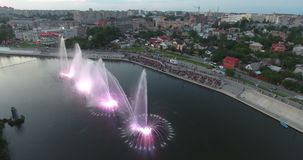 Music Fountain On The River stock footage