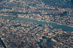 Aerial shot of Budapest Stock Photo
