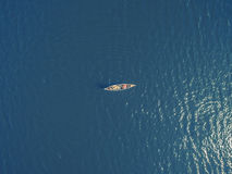 Aerial shot of Canoe Stock Images