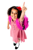 Aerial shot of charming pretty school kid Stock Images