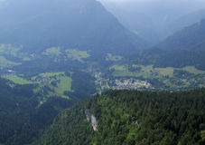 Aerial shot of Chartreuse valley Royalty Free Stock Photo