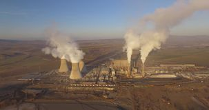 Coal-fired power plant stock video