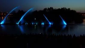 Beautiful dancing fountain stock footage