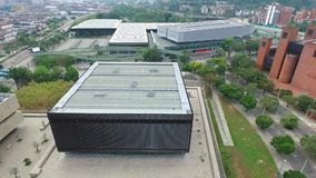 Aerial shot Convention Center Medellin, Colombia`