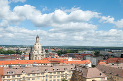 Aerial shot of Dresden with Frauenkirche Stock Photos