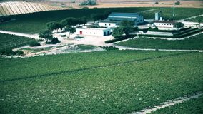 Aerial view of generic Spanish farm and vineyard royalty free stock photos