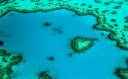 The Famous `Heart Reef` in Australia royalty free stock photography