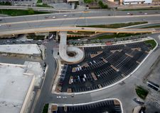 Aerial shot of highway Stock Images