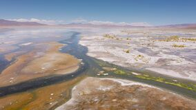 Aerial shot at Polques hot springs - South of Bolivia.