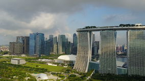 Aerial shot of Marina Bay Sands