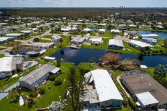 Aerial Naples Florida after Hurricane Irma Stock Photography