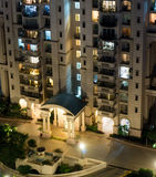Aerial shot of modern apartment building Stock Photography