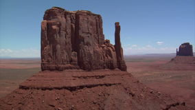 Aerial shot of monument valley mittens stock footage