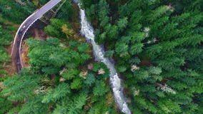 Aerial shot mountain forests