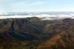 Aerial Shot of mountain range Stock Photo