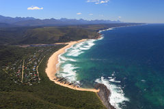 Aerial shot of Natures Valley in the Garden Route Stock Images