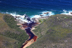 Aerial shot of Natures Valley in the Garden Route. South Africa Stock Photo
