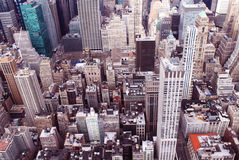 Aerial shot of new york Stock Images