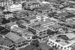 Aerial shot of a normal day in the Malaysian suburb Petaling Ja Stock Photo