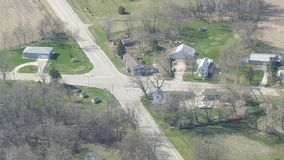 Aerial shot of Oak Hill Wi Stock Image