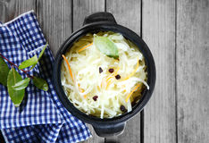 Free Aerial Shot Of Fresh Veggies Salad On Cooking Pot Royalty Free Stock Photos - 50400208