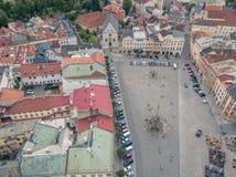 Aerial shot of Olomouc city in Moravia region. Of Czech Republic Royalty Free Stock Photos